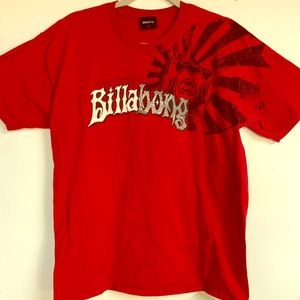 Men's Billabong Red T-shirt large